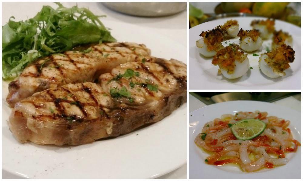 義大利菜食譜:西西里海鮮沙拉、鑲餡花枝、油浸生蝦