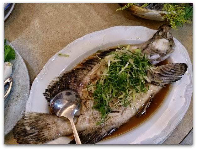 萬里-漁家鄉海鮮餐廳-老鼠斑二吃,清蒸和魚湯