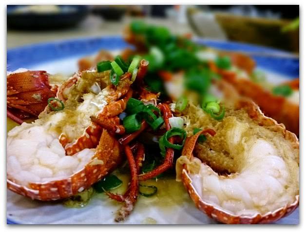 萬里-漁家鄉海鮮餐廳-清蒸蒜蓉小龍蝦