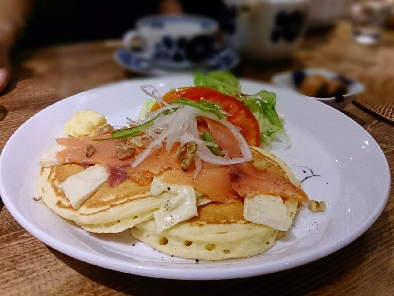 杏桃鬆餅屋 -燻鮭魚卡門貝爾起司鬆餅