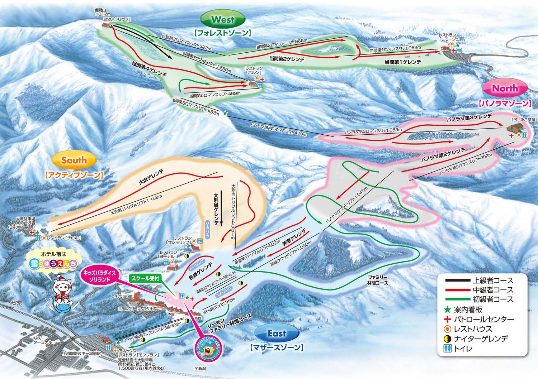 上越國際滑雪場-滑雪場地圖