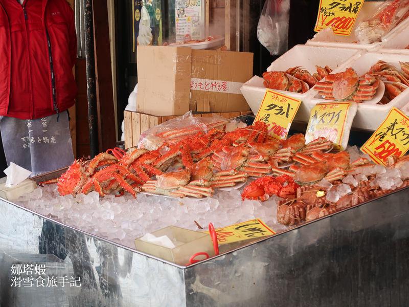 札幌場外市場,大快朵頤吃螃蟹!